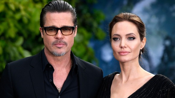 Brad Pitt and Angelina Jolie at Maleficent premiere in Los Angeles
