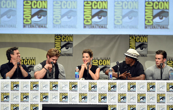 The Avengers cast at San Diego Comic Con