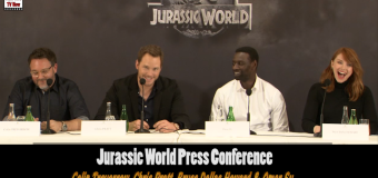 Watch The Cast Of Jurassic World At Paris Press Conference