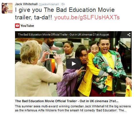 watch the bad education movie trailer