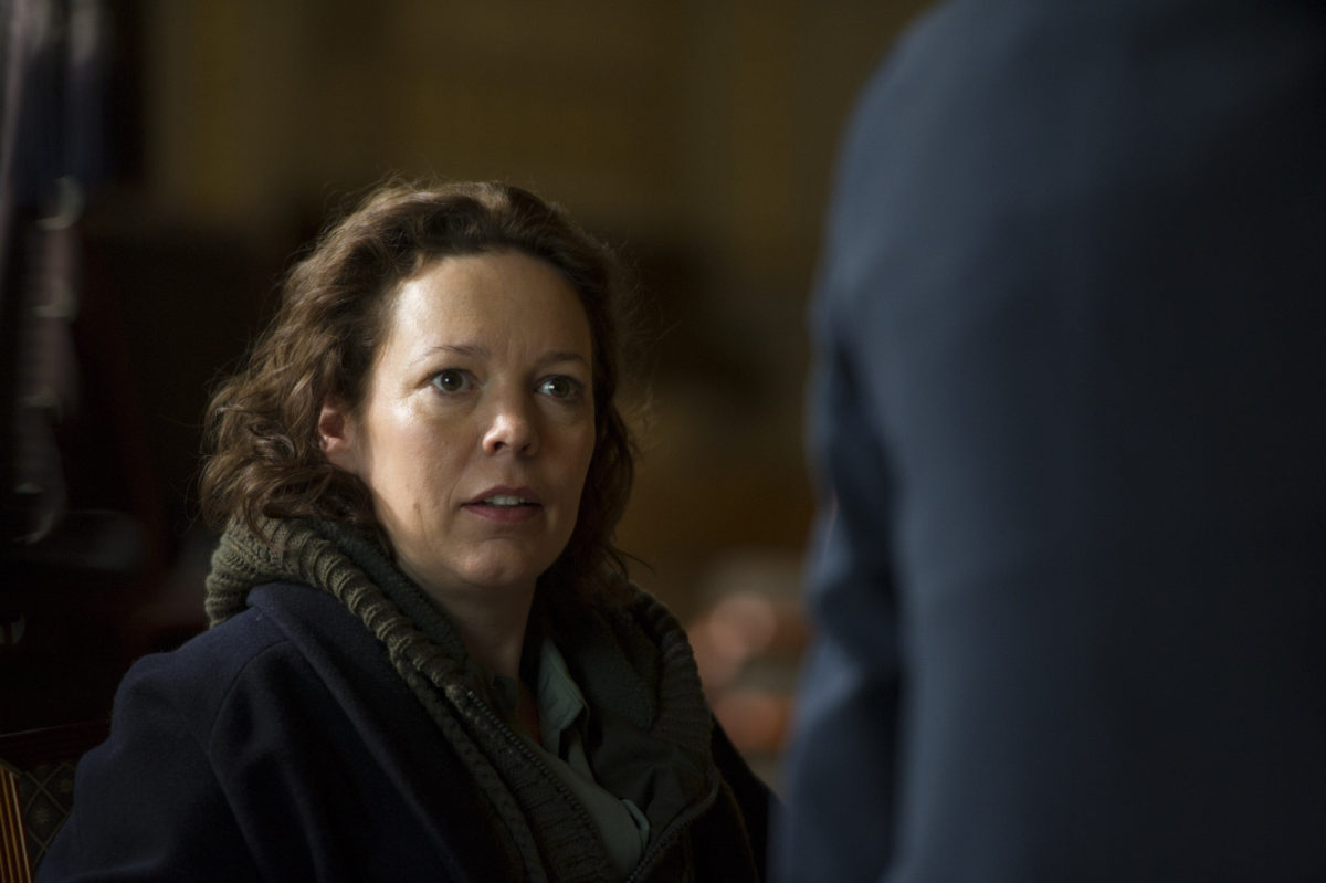 Programme Name: The Night Manager - TX: n/a - Episode: The Night Manager (No. Ep 1) - Picture Shows: Burr (OLIVIA COLMAN) - (C) The Ink Factory - Photographer: Des Willie