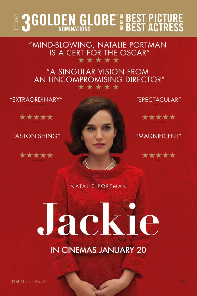 Jackie brand new official trailer and poster starring for Jackie kennedy movie