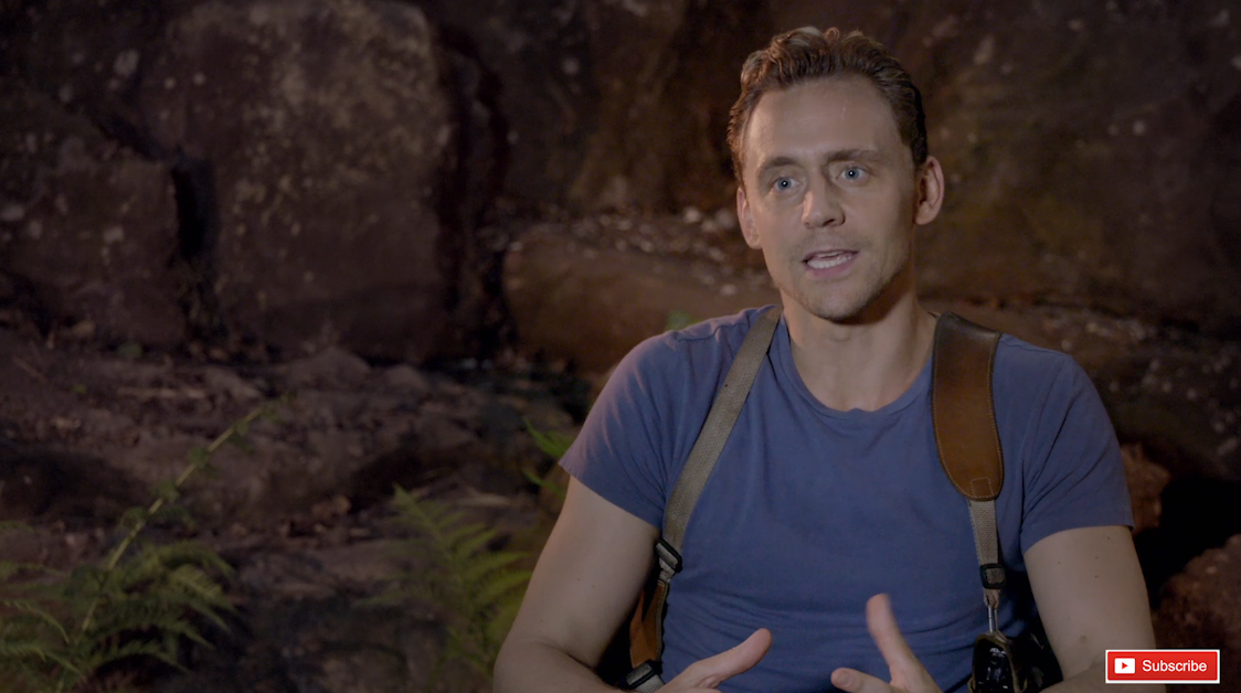 Tom Hiddleston Kong: Skull Island interviews