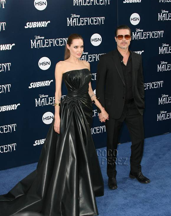 Angelina Jolie And Brad Pitt Maleficent Premiere In Los