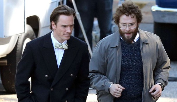 Take a Look at Michael Fassbender and Seth Rogen in Steve Jobs Biopic