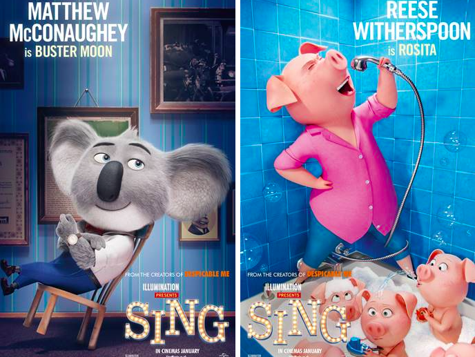Adorable New Sing Character Posters Released Film And Tv Now